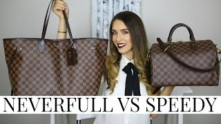 LOUIS VUITTON NEVERFULL VS SPEEDY | Pros, Cons & Review! | Shea Whitney
