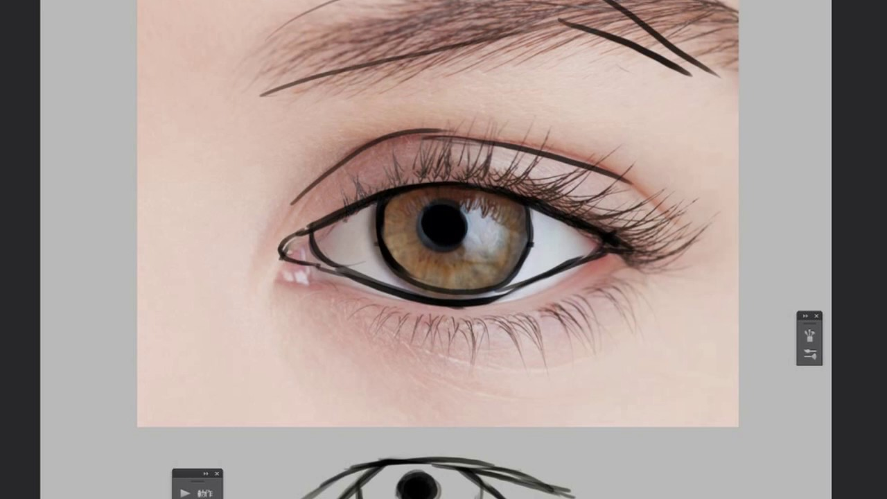 semi realistic eyes tutorial for beginner part i youtube
