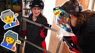 Metal & Wood Table (Katelyn wrecks Evan at welding)