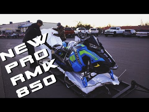 Taking Delivery of A New 2019 Polaris PRO RMK 850!