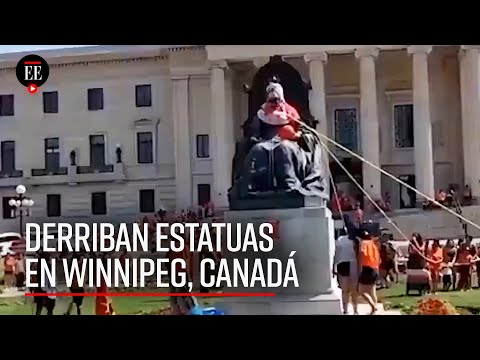 Derriban estatuas en Canadá tras escándalo de fosas de niños indígenas en internados - El Espectador