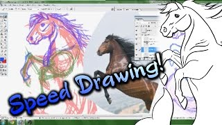 Speed Drawing - Sea Storm Logo ~ Part 1 ~ Line Work