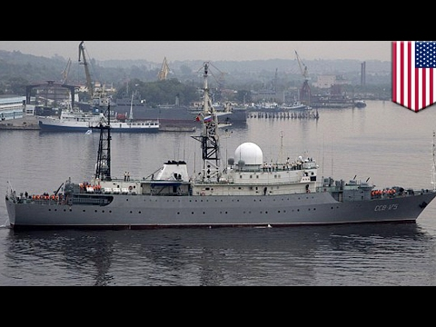 USA vs Russia: Russian spy ship spotted patrolling off coast of Delaware - TomoNews