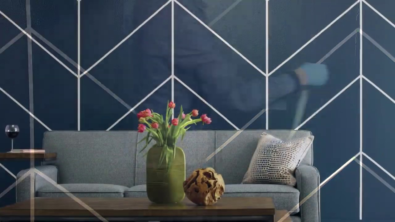 Diy Chevron Accent Wall Youtube