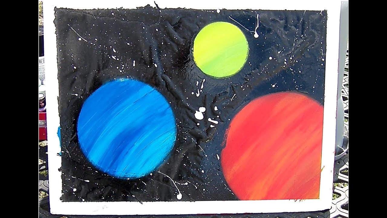 Cool And Easy Space Painting