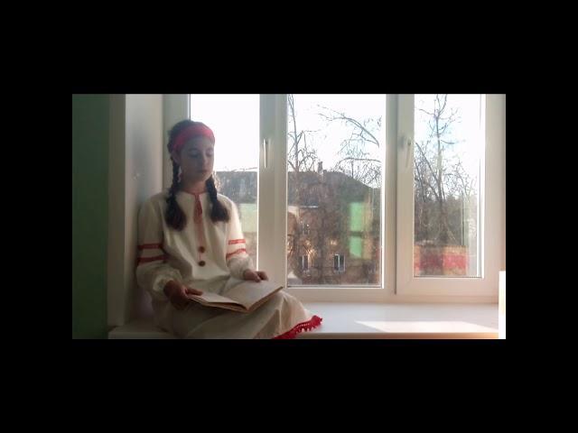 Изображение предпросмотра прочтения – АннаГонозова читает произведение «Нивы сжаты, рощи голы…» С.А.Есенина