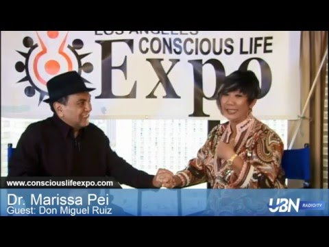 Don Miguel Ruiz Bestselling Author The Four Agreements with Dr. Marissa at the Conscious Life Expo