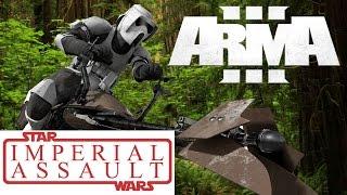 Arma 3 - Star Wars Imperial Assault - Speeder Bike Racing!