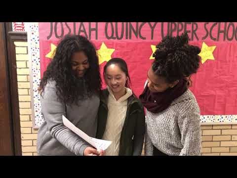 Watch these Josiah Quincy Upper School students receive a surprise