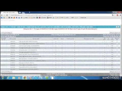 Hướng dẫn và mẹo đăng ký tín chỉ Học viện Tài chính (Unisoft Thiên An)