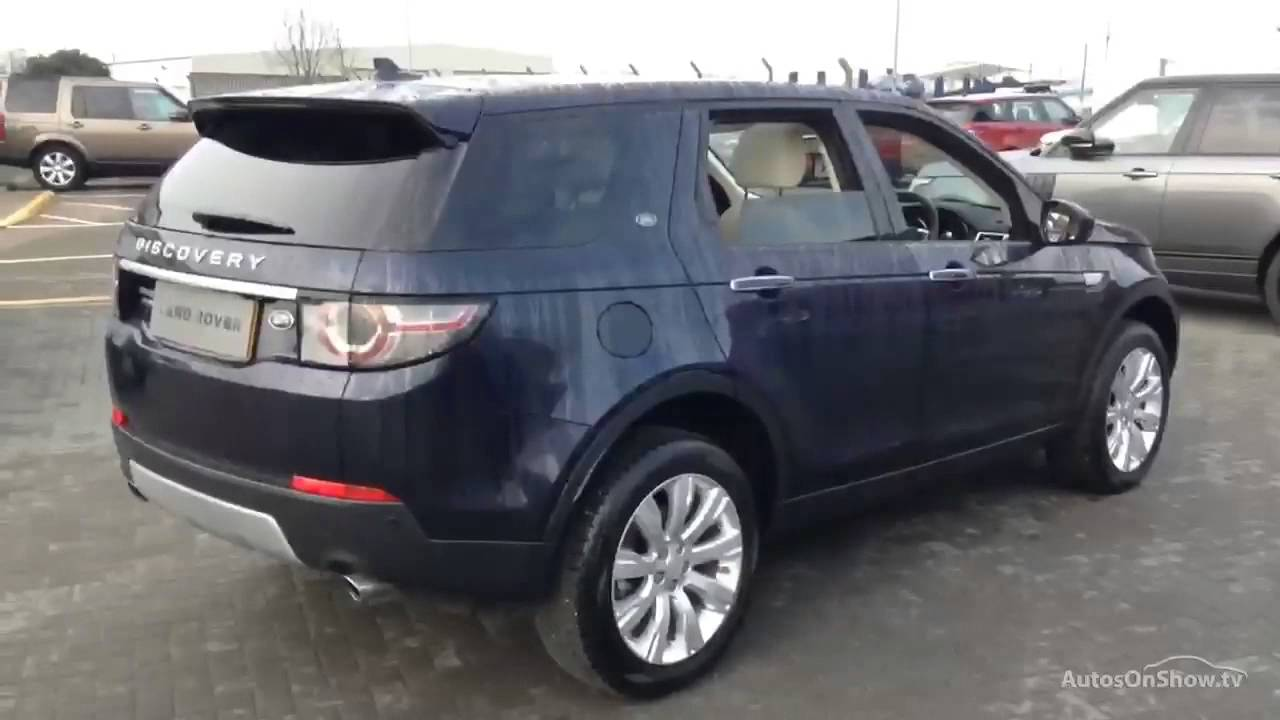 land rover discovery sport sd4 hse luxury blue 2015 youtube. Black Bedroom Furniture Sets. Home Design Ideas