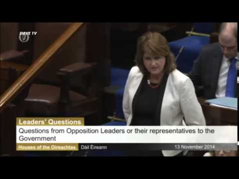 Mary Lou McDonald TD suspended from dail and refuses to leave