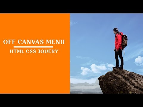 How to create an off canvas menu using html css and jquery