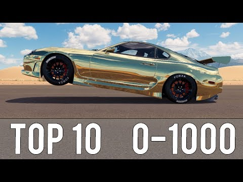 Forza Horizon 3 - TOP 10 FASTEST 0-1000 CARS! CRAZY ACCELERATIONS!