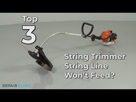 String Trimmer Line Won't Feed? String Trimmer Troubleshooting