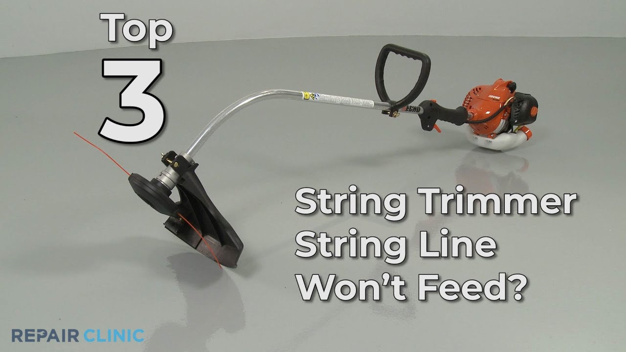 Top Reasons String Trimmer Line Not Feeding String Trimmer Troubleshooting Youtube