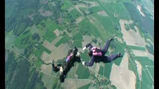 Funny skydiving accident