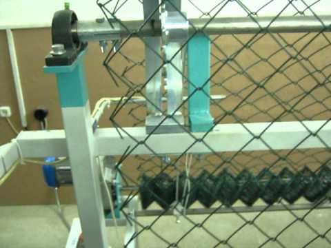 Станок для производства сетки Рабица автомат/Chain link fence machine