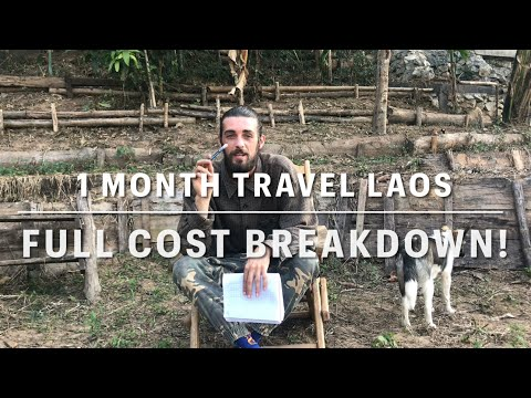 LAOS TRAVEL COST! (HOW CHEAP IS LAOS?) - One Month Travel Budget - COST GUIDE / TIPS 2021