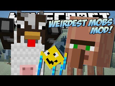 Minecraft | WEIRDEST MOBS EVER!! (Throwing Villagers, Fat Chickens & More!) | Mod Showcase