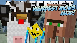 Minecraft | WEIRDEST MOBS EVER!! (Throwing Villagers, Fat Chickens & More!) | Mod Showcase