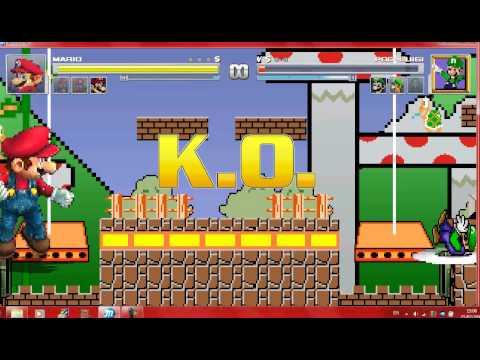 Mugen 4 Different Versions of Mario vs 4 Different Versions of Luigi