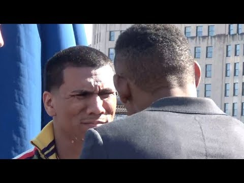 WATCH DANNY JACOBS & LUIS ARIAS TALK TRASH DURING FACE OFF ON NYC ROOFTOP!!!