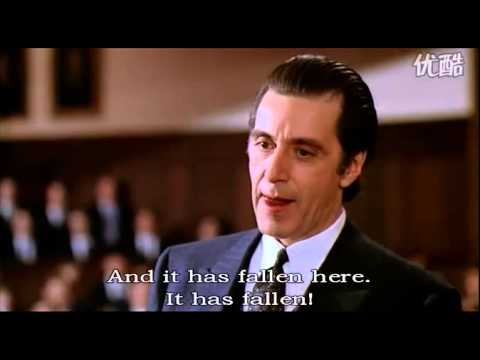 one of the most stirring speech -- scent of a woman