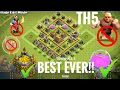 Townhall 5 (TH5) base(Best Ever!!) with replay || UNBEATABLE