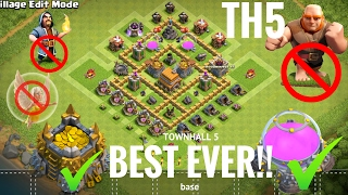Townhall 5 (TH5) base(Best Ever!!) with replay ||⁠ UNBEATABLE⁠⁠⁠
