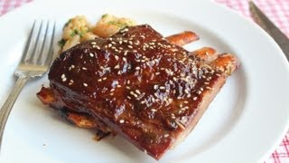 Root Beer Ribs Recipe - Spicy Lamb Ribs Glazed With Root Beer And Sesame