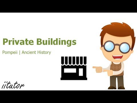√ Private buildings: villas, houses, shops of Pompeii | iitutor