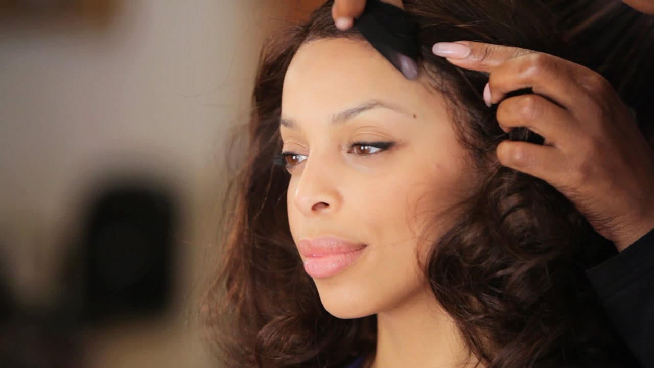How to Put on a Lace Front Wig | Black Hairstyles - YouTube