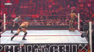Daniel Bryan puts The Miz in his Cattle Mutilation submission hold: Hell in a Cell 2010