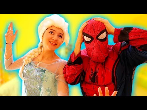 24 ORE VESTITI DA FROZEN E SPIDERMAN! *challenge*