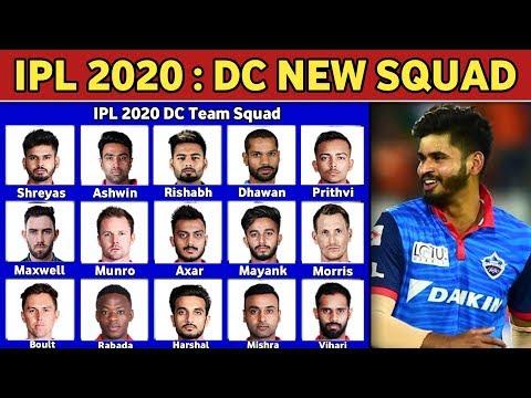 IPL 2020 - Delhi Capitals(DC) Team Full Squad