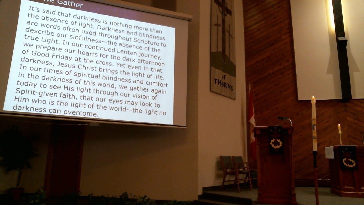 Sunday Worship: March 22, 2020