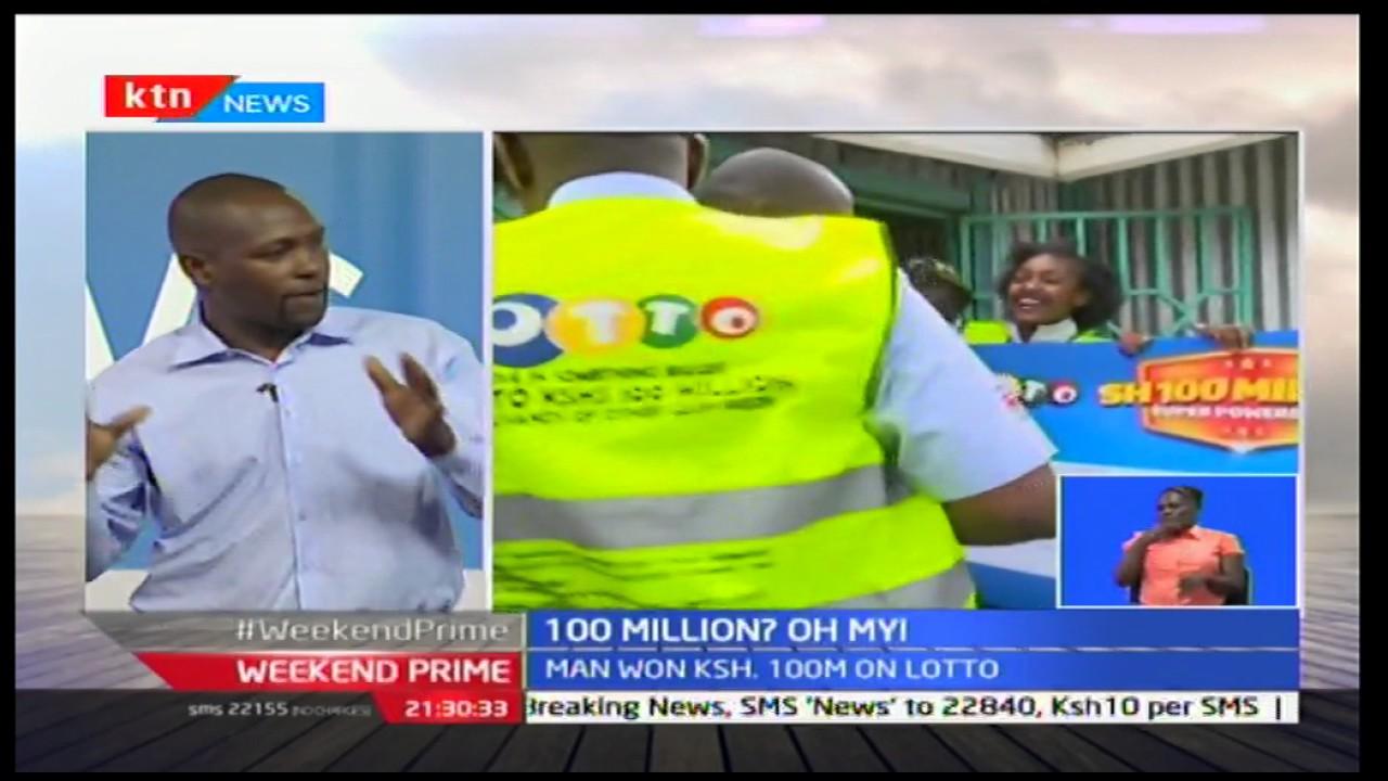 Geoffrey Kungu is Lotto's 100 million Jackpot winner
