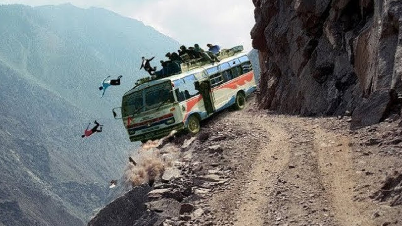 Most Dangerous mountain roads In The World, Heavy Equipment Truck Skill Driving 2019, Dangerous trip