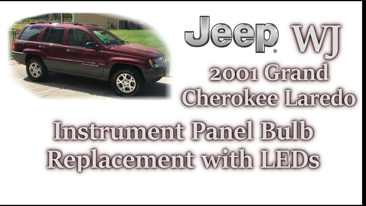 2001 Jeep WJ Instrument Cluster Bulb Replacement  Jeep Cherokee Instrument Cluster Wiring Diagram on