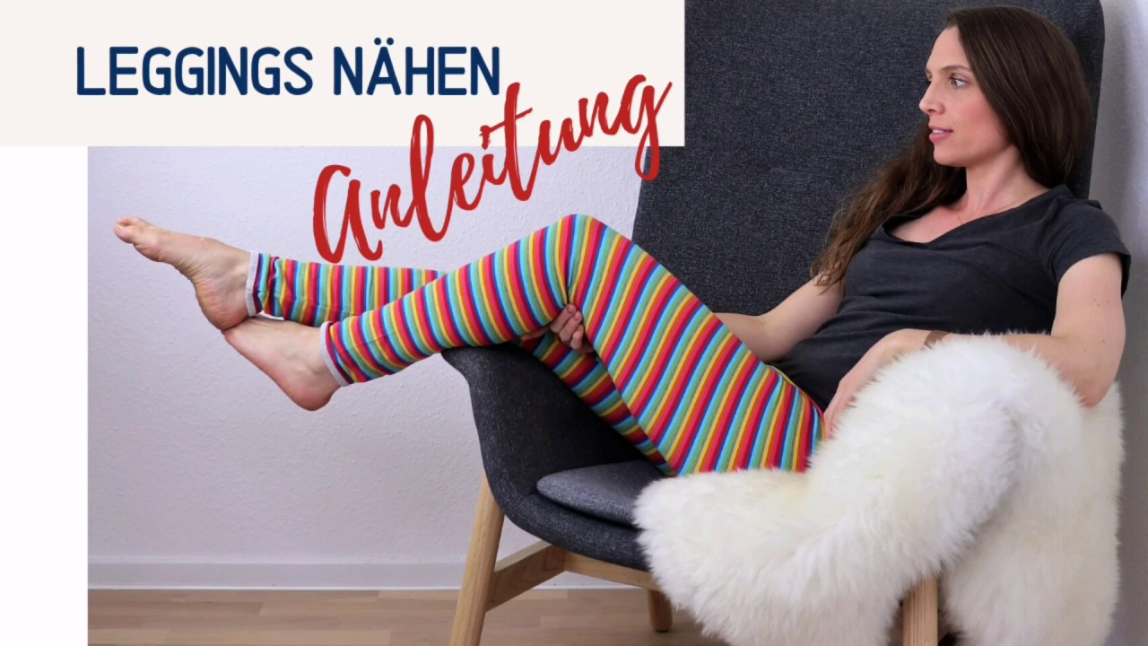 leggings nähen für kinder  erwachsene inkl schnittmuster
