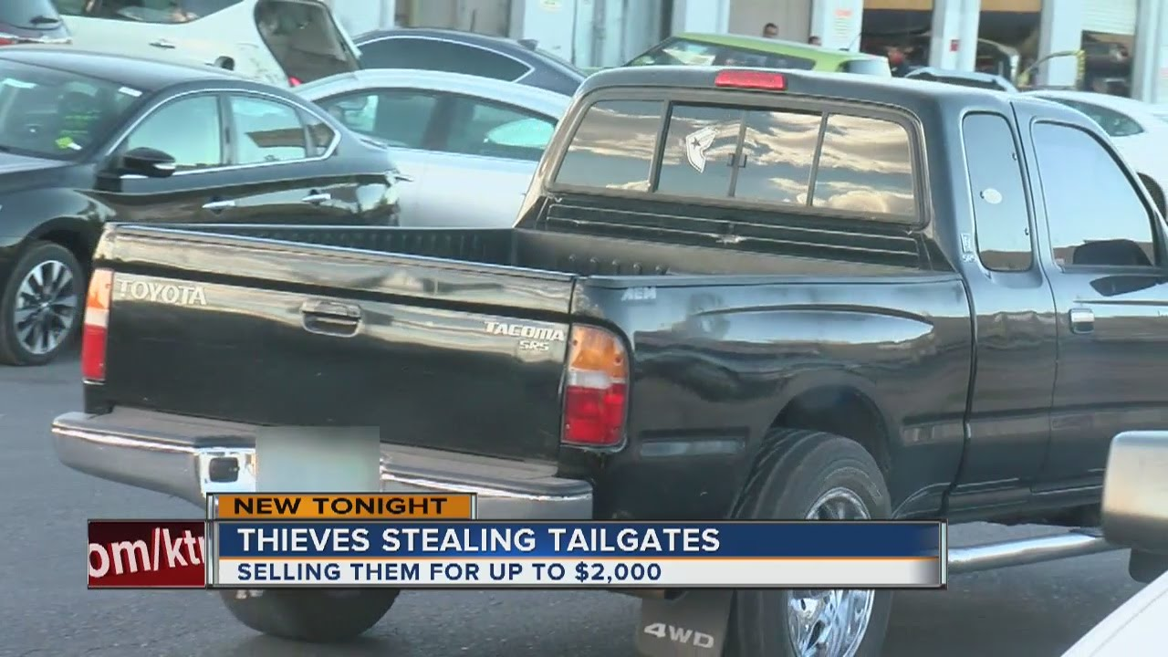 Thieves Stealing Pickup Truck Tailgates Ing For Thousands