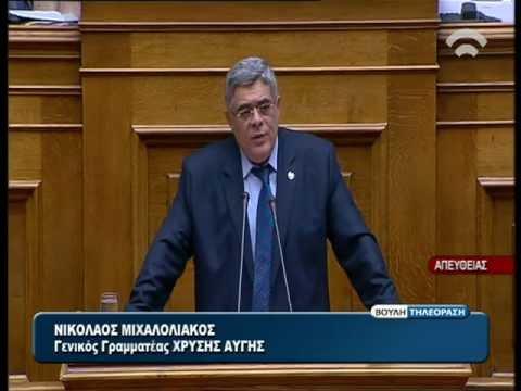 Ομιλία - κεραυνός του Ν.Γ.Μιχαλολιάκου για τις Ένοπλες Δυνάμεις