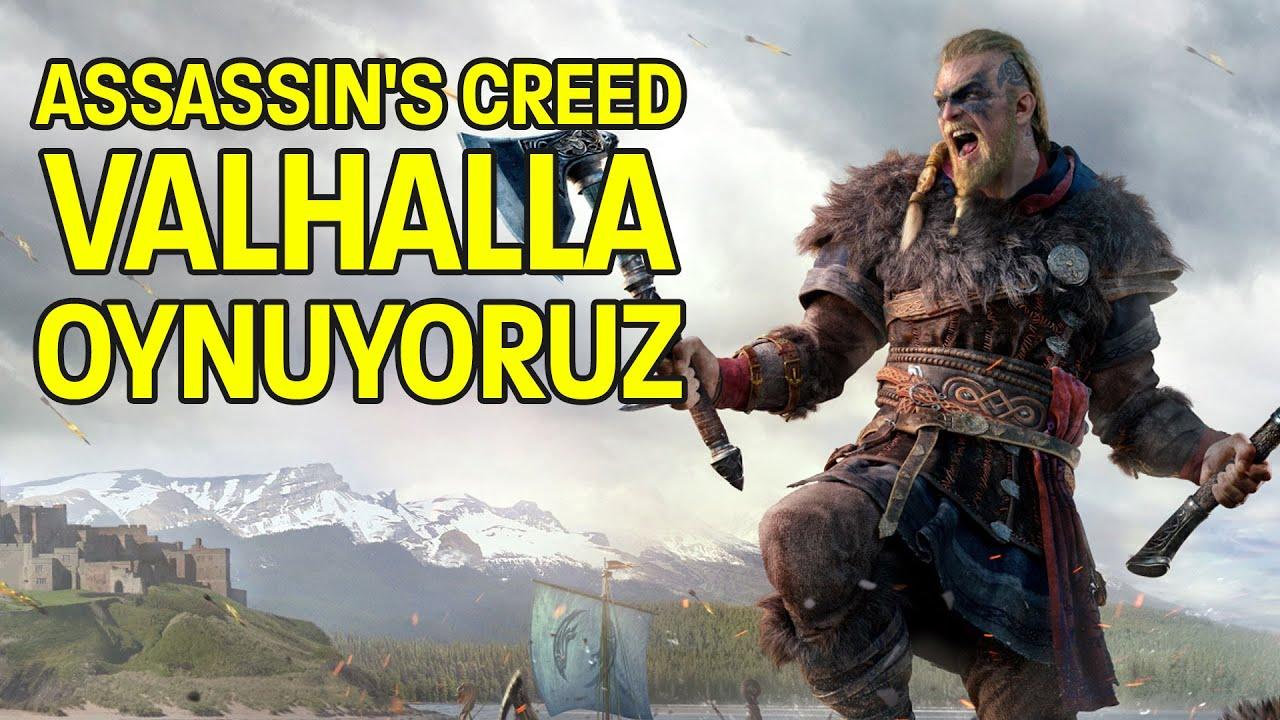 İLK KEZ OYNUYORUZ: ASSASSIN'S CREED VALHALLA ile 3 SAAT
