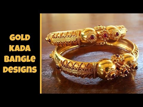 Traditional Gold Kada Bangle Designs