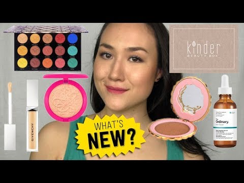 KINDER Unboxing, New Makeup & Updated Reviews! What's New In Beauty? April 2019
