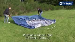 Outwell Earth Tent Pitching