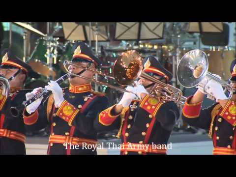 The Royal Thai Army band  ราชอาณาจักรไทย - YouTube