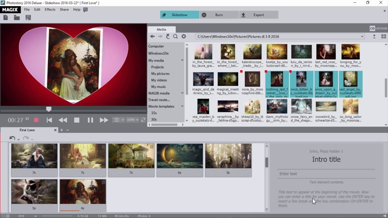 Magix Photostory 2016 Deluxe Movie Template Youtube
