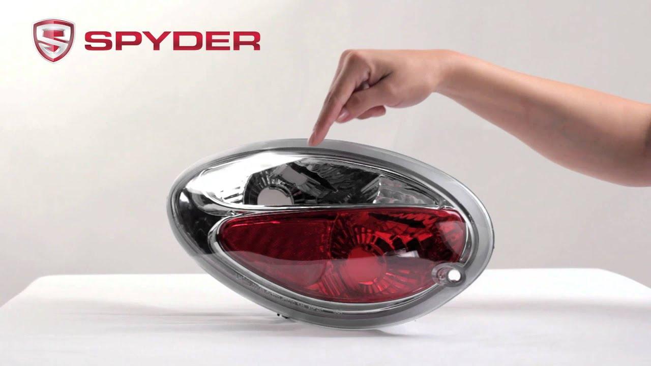 Spyder Auto Product Showcase 2001 05 Chrysler Pt Cruiser Euro Style Tail Light